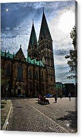 Church In Bremen Germany 2 Acrylic Print by Edward Myers