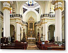 Church Interior In Puerto Vallarta Acrylic Print by Elena Elisseeva