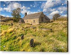 Church Of Celynnin Acrylic Print by Adrian Evans