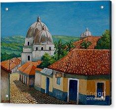 Church Of Pespire In Honduras Acrylic Print