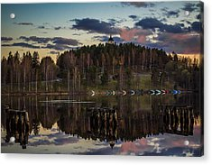 Acrylic Print featuring the photograph Church On A Hill by Matti Ollikainen