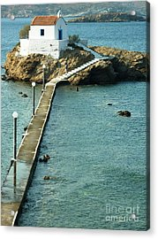 Acrylic Print featuring the photograph Church On The Water by Therese Alcorn