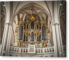 Church Organ Acrylic Print by Kurt Forschen