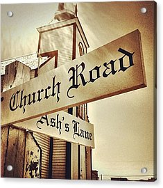 Church Road Acrylic Print