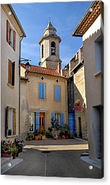 Acrylic Print featuring the photograph Church Steeple In Provence by Dave Mills