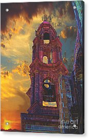 Acrylic Print featuring the photograph Church Tower In San Miguel De Allende by John  Kolenberg