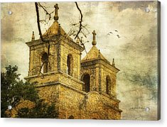 Acrylic Print featuring the photograph Church Towers by Joan Bertucci