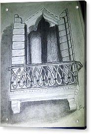 Church Window Acrylic Print by Irving Starr