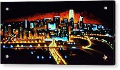 Cincinnati By Black Light Acrylic Print by Thomas Kolendra