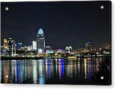 Cincinnati In Lights Acrylic Print by Tina Karle