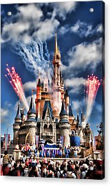 Cinderella's Castle Acrylic Print by Brent Craft