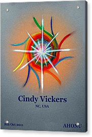 Cindy Vickers Acrylic Print