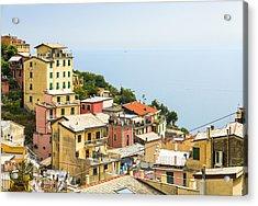 Cinque Terre - Riomaggiore Acrylic Print by Michal Krakowiak