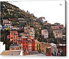 Cinque Terre I Acrylic Print by David Ritsema