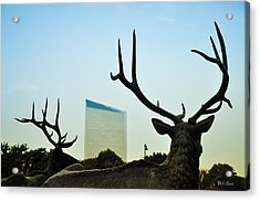 Cira Center From Eakins Oval Acrylic Print by Bill Cannon