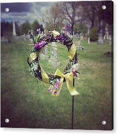#circle #ribbon #flower #flowers #reef Acrylic Print