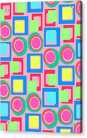 Circles And Squares Acrylic Print by Louisa Knight