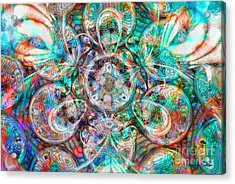 Circles Of Life Acrylic Print by Mo T