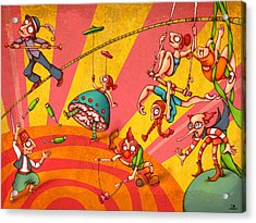 Circus 3 Acrylic Print by Autogiro Illustration
