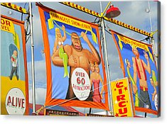 Circus Attractions Acrylic Print by David Lee Thompson
