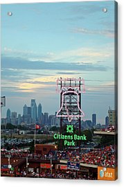 Citizens Bank Park 1 Acrylic Print by See Me Beautiful Photography