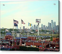 Citizens Bank Park 3 Acrylic Print by See Me Beautiful Photography