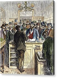 Citizenship, Nyc, 1868 Acrylic Print by Granger