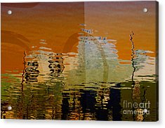 City Abstract Acrylic Print by Elaine Manley
