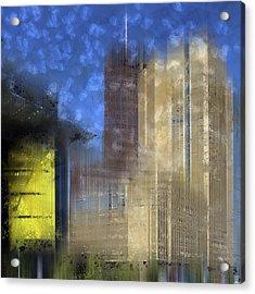 City-art Berlin Potsdamer Platz I Acrylic Print by Melanie Viola