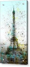 City-art Paris Eiffel Tower II Acrylic Print by Melanie Viola