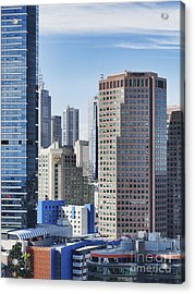 City Buildings Acrylic Print by Dave & Les Jacobs