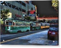City Bus San Francisco Acrylic Print by Michael Cleere
