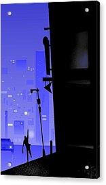 'city Corner' Acrylic Print by Bryan  Rhoads