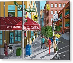 City Corner Acrylic Print by Katherine Young-Beck