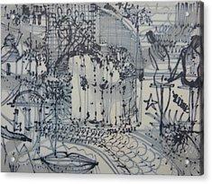 City Doodle Acrylic Print