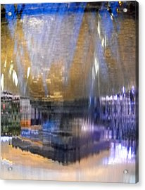 City Fountain  Acrylic Print by Duwayne Washington