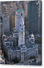 Acrylic Print featuring the photograph City Hall Broad St And Market St Philadelphia Pennsylvania 19107 by Duncan Pearson