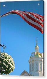City Hall Dome And Flag Acrylic Print