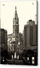 City Hall From The Parkway - Philadelphia Acrylic Print by Bill Cannon