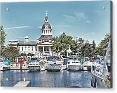 City Hall Kingston Ontario Canada Acrylic Print by Peggy Holcroft