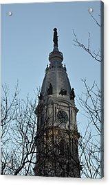 City Hall Tower Philadelphia Acrylic Print by Bill Cannon