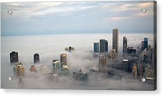 City In The Clouds Acrylic Print