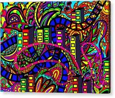 City Of Life Acrylic Print by Karen Elzinga