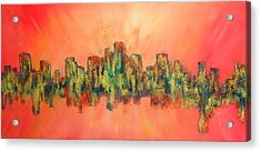 City Of Lights Acrylic Print by Mary Kay Holladay