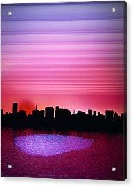 City Of My Dreams Acrylic Print by Jan W Faul