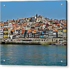 Acrylic Print featuring the photograph City On A Hill On A River by Kirsten Giving