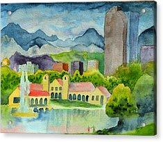 City Park Wonderland Summer Acrylic Print