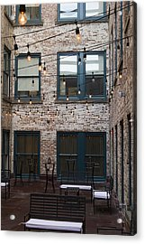 City Patio Acrylic Print by Peter Chilelli