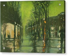 City Rain 6 Acrylic Print by Paul Mitchell