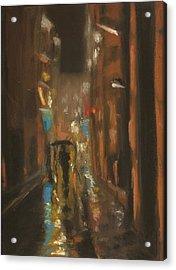 City Rain 7 Acrylic Print by Paul Mitchell